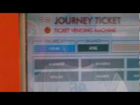 SmartCard ATVM Machine Live Demo - Mumbai