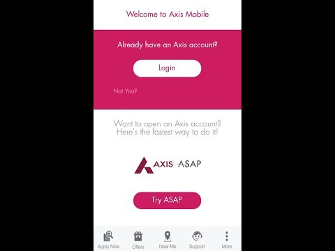 Axis Bank saving account open online within 3 to 5 minutes with Zero balance