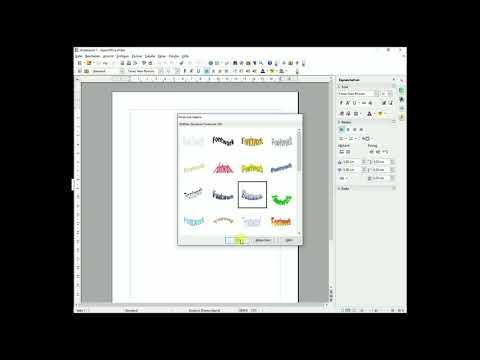 3D Schrift Fontwork WordArt in OpenOffice aktivieren