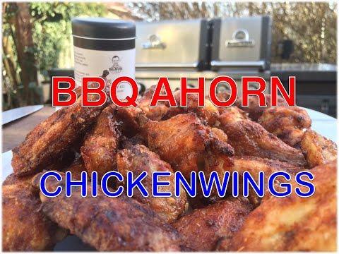 Ahorn BBQ Chicken Wings vom Grill --- Klaus grillt
