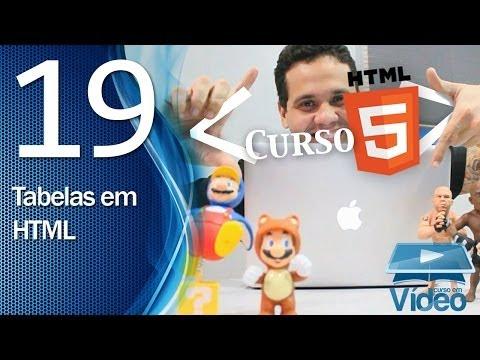 Curso de HTML5 - 19 - Tabelas em HTML - by Gustavo Guanabara