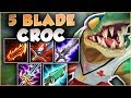 NO ONE IS SAFE FROM THIS CROC 5 BLADE RENEKTON IS LETHAL FULL DAMAGE RENEKTON League Of Legends