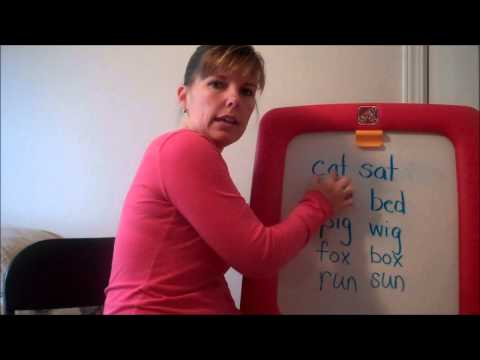 How to Teach Your Child to Read - Rhyming Words to Make sentences
