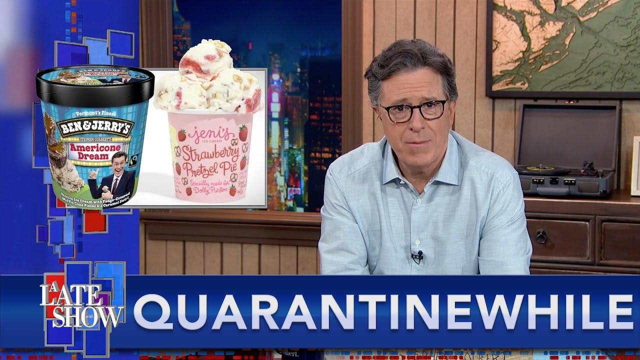 Quarantinewhile... Stephen Advises Dolly Parton On The Celebrity Ice Cream Game