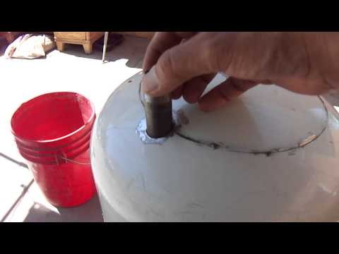 Home Made High pressure pot blaster/Sand Blaster out of propane tank part 1 of 4