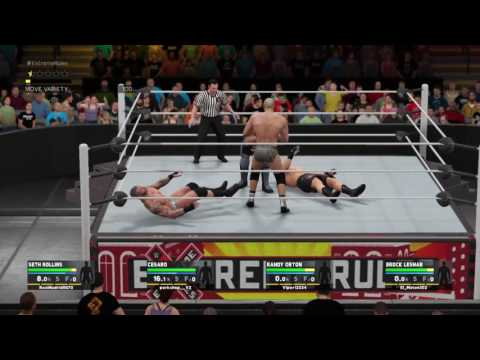WWE 2k17 moments, FATAL 4 WAY EXTREME RULES !!!