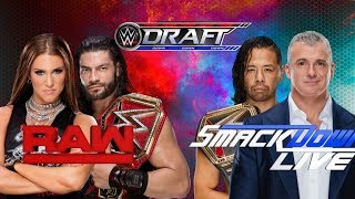 WWE 2018 DRAFT/SUPERSTAR SHAKE-UP  PREDICTIONS!