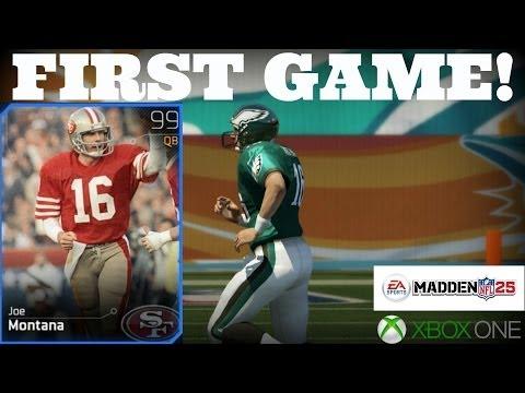 Madden 25 XB1 Ultimate Team - Joe Montana's First Game!