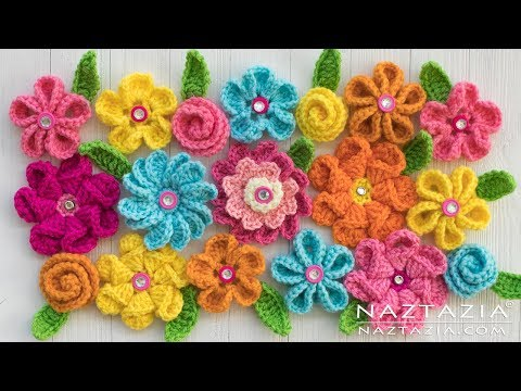 Crochet and Knitted Flowers - Review of Flower Videos by Naztazia