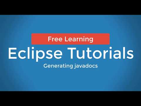 How TO : Generate javadocs eclipse