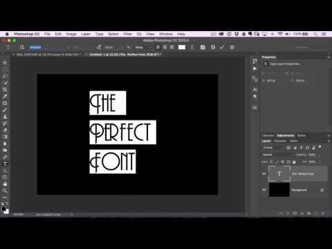 60 Second Photoshop Tips - Finding the Perfect Font (Episode 2)