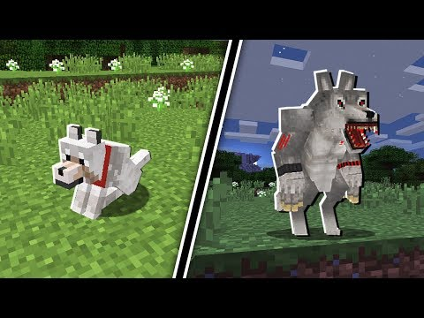 WOLF TRANSFORMS INTO A WEREWOLF in Minecraft!