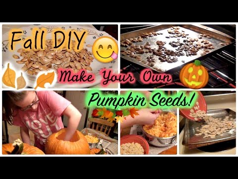 FALL DIY: How to Make Your Own Pumpkin Seeds! | Easy Recipe