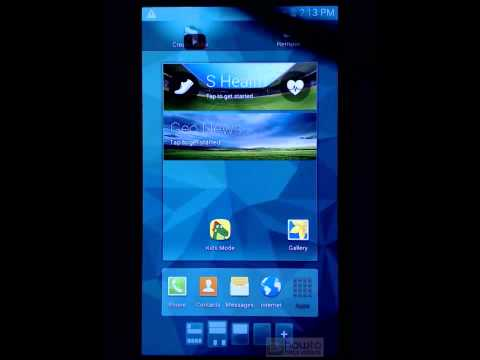 How to edit home screen and add widgets (Samsung Galaxy S5)