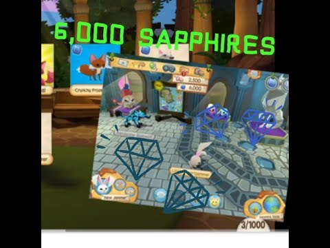 AJHQ Gifted Me 6,000 Sapphires Animal Jam Play Wild