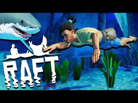 Scuba Diving Adventure! - SHARK ATTACKS and Raft Building - Raft Gameplay