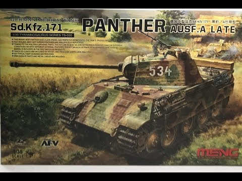 The Meng 1/35 Panther complete breakdown review including zimerit decals