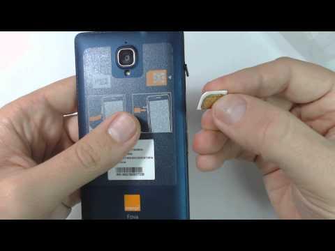 How to put sim card on Orange Favo
