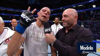 """He ain't no West Coast gangster!"" Nate Diaz calls out Jorge Masvidal after winning return at UFC241"