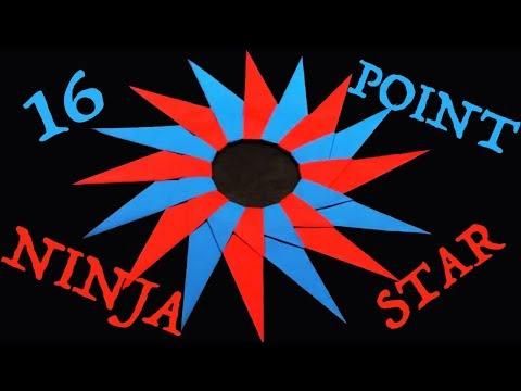 How to Make a 16-Point Ninja Star (Shuriken)