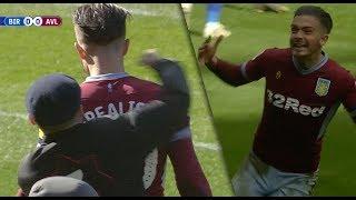 Katsoja hyökkäsi Aston Villan pelaajan kimppuun – Jack Grealish kuittasi voittomaalilla