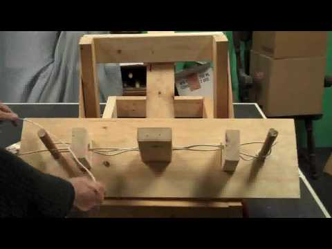 How to wrap the rope on a Torsion Catapult (Mangonel)