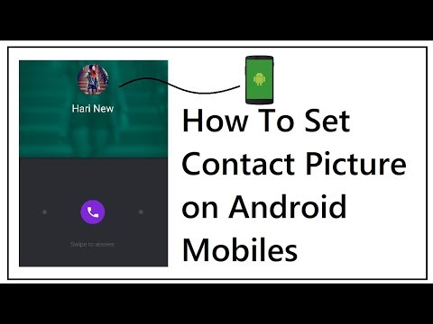 How To Set Contact Picture on Android Mobiles 2018