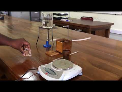 A/L Physics Practical-Determination of Specific Heat Capacity of a Solid by using method of Mixtures
