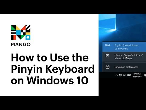 How to Use the Pinyin Keyboard on Windows 10 - Typing in Chinese