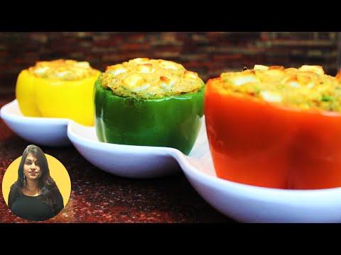 Stuffed Bell Peppers in Air Fryer || Kavita Gandhi