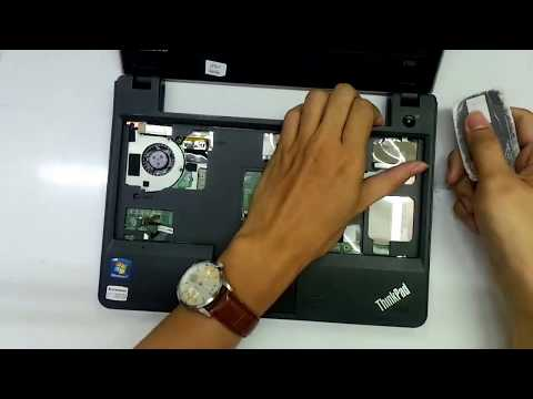 Lenovo Thinkpad Edge E125 laptop take apart/disassemble (Repair Left LCD Hinge)