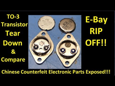 Transistor Tear Down and Compare  - Counterfeit Parts Exposed!!!