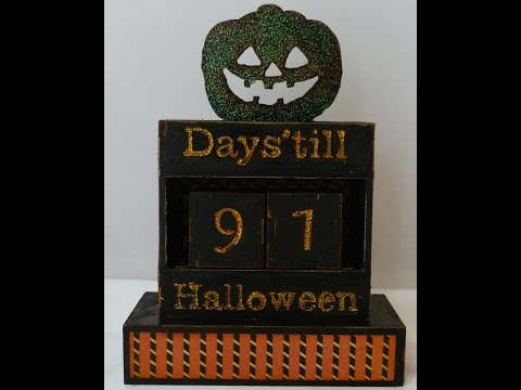 Altered Halloween count down box finished project