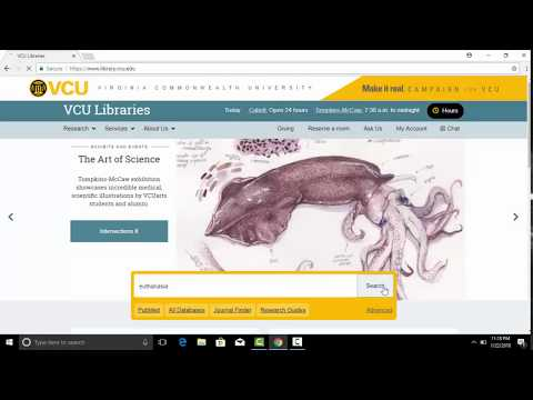 Searching VCU Libraries: Part Two