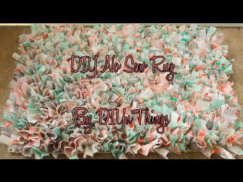 DIY No Sew Rug