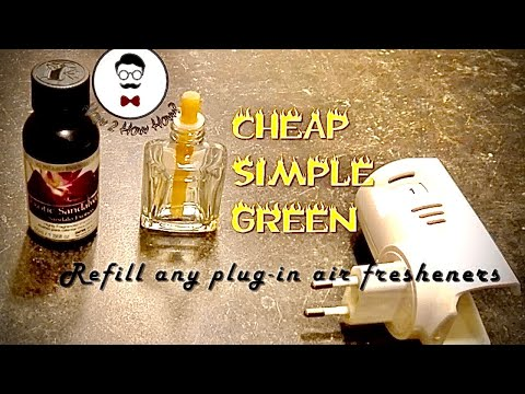 How to Refill Reuse ANY Plug-In Air Freshener Cheap Simple Fast Money Saving and Green