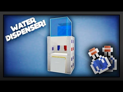 Minecraft - How To Make A Water Dispenser