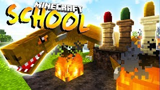 I GET A PET DRAGON !?- Minecraft School w/ Little Lizard