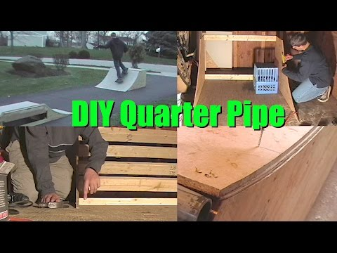 How to Build 3' or 4' Quarter Pipe Mini Skate Ramp DIY Step by Step Instructions HalfPipe Plans