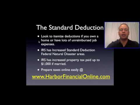Standard Deduction 2012, 2013