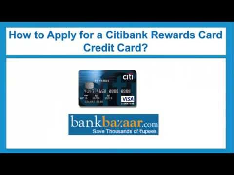 How to Apply for Citibank Rewards Card Credit Card
