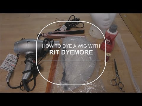 How to Dye a Wig with Rit Dyemore