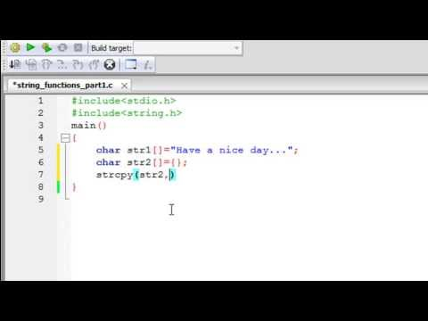 C Programming Tutorial - 62: Predefined String Functions (Part-1)