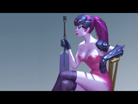 Digital painting process Widowmaker Overwatch