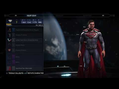 Injustice 2 Man of Steel Superman Inspired Gear Loadout Showcase