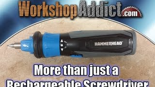 HAMMERHEAD Screwdriver Rechargeable 4 Volt with Circuit Sensing Technology