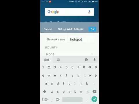 How to change hotspot name in android mobile
