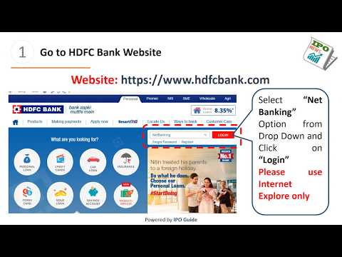 How To Apply IPO using HDFC Bank