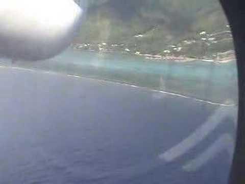 Flight to Moorea from Tahiti