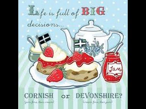 Cream Tea Showdown, Devon Vs Cornwall   ARV35